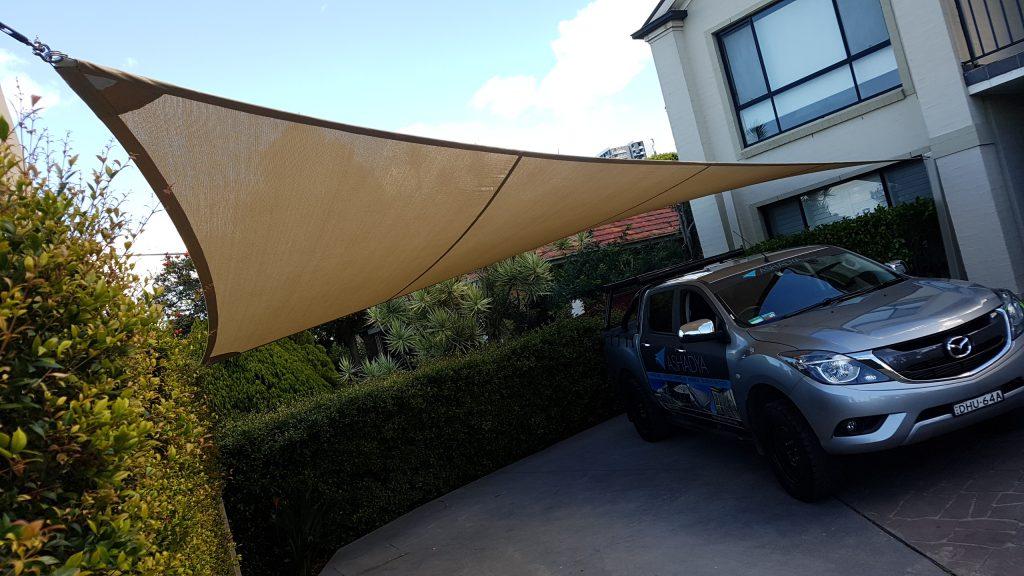 Driveway shade sails